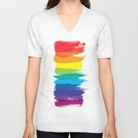 pride V-neck T-shirts featuring Pride by Blind River