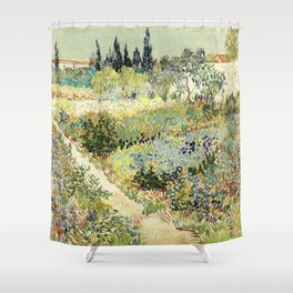 Vincent Van Gogh : Garden at Arles Shower Curtain