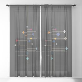 winter equinox Sheer Curtain