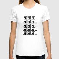 greek T-shirts featuring Greek Key by Charlene McCoy