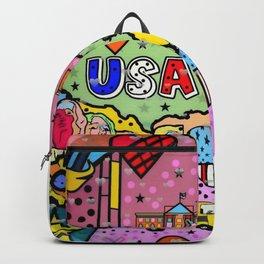 USA Popart 2018 by Nico Bielow Backpack
