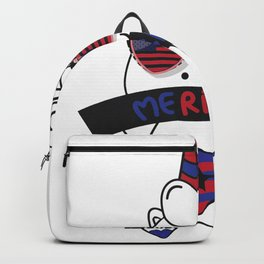 Merica Memorial Day Unicorn Funny American Flag Backpack