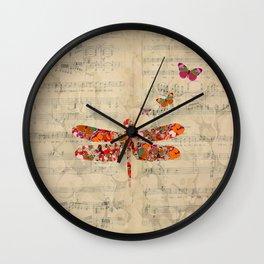 Dragon Fly Wall Clock