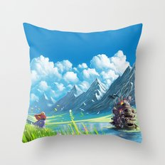 Howls Moving Castle Throw Pillow