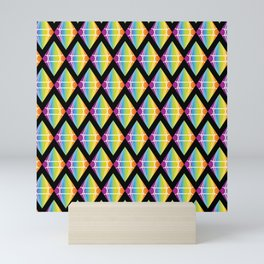 Abstract [RAINBOW] Emeralds pattern Mini Art Print