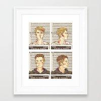 stucky Framed Art Prints featuring stucky mugshots by maria euphemia