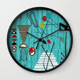 Mid-Century Tiki Tok Wall Clock