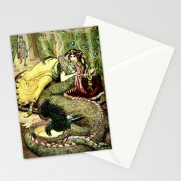 """""""The Princess' Pets"""" by Franklin C. Pape' (1911) Stationery Cards"""