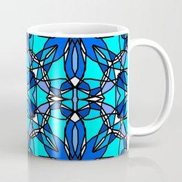 Blue Stained Glass Coffee Mug