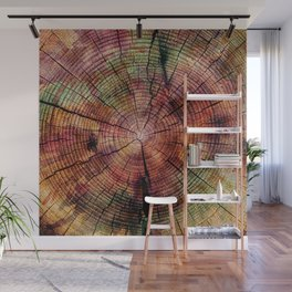 Nature Flow - Modern Pastel Alcohol Ink Wood Wall Mural