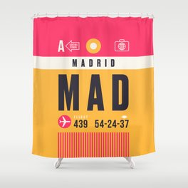 Baggage Tag A - MAD Madrid Barajas Spain Duschvorhang