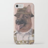 german shepherd iPhone & iPod Cases featuring German Shepherd by Rachel Waterman