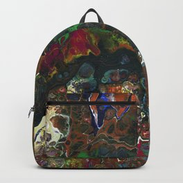 The Reef II - Original, abstract, fluid, acrylic painting Backpack