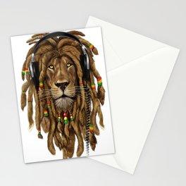 Lion Dreadlocks Rastafari T-Shirt & accessories Stationery Cards