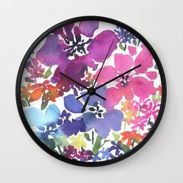 Pretty Poppy Patch Wall Clock