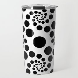Optical Illusion Dot Spirals Travel Mug