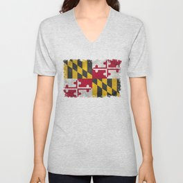 Maryland State flag - Vintage retro style Unisex V-Neck