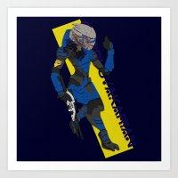garrus Art Prints featuring Garrus Vakarian by KuroHyena