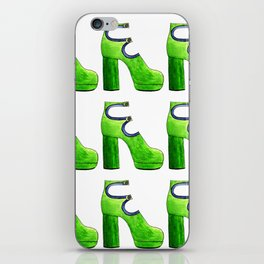 green suede bootie pattern iPhone Skin