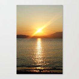 my sundown Canvas Print