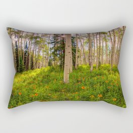 Crested Butte, Kebler Pass in Spring - Panorama by OLena Art for #society5 Rectangular Pillow