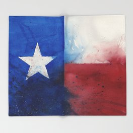 Flag of Texas Throw Blanket