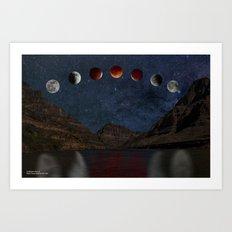 Lunar Eclipse Over the Colorado River Art Print