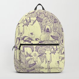 just goats purple cream Backpack