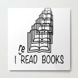 I reREAD books Metal Print