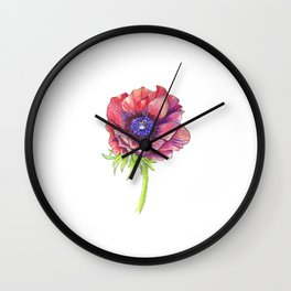 Floral Graphic Design Elements Wall Clock