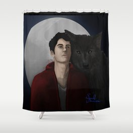 A Boy and his Wolf Shower Curtain