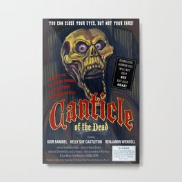 """Canticle of the Dead"" Movie Poster Metal Print"