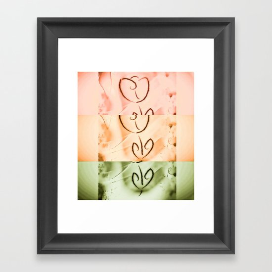 not quite broken Framed Art Print
