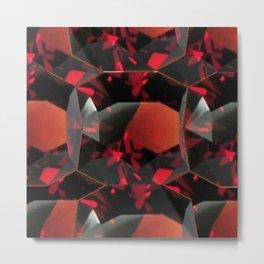 JANUARY BIRTHSTONE GARNET GEMS ART DESIGN Metal Print
