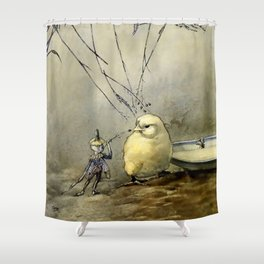 """""""Bother the Gnat"""" by Duncan Carse Shower Curtain"""