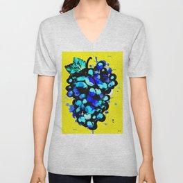 Colored Grape Unisex V-Neck