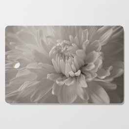 Monochrome chrysanthemum close-up Cutting Board