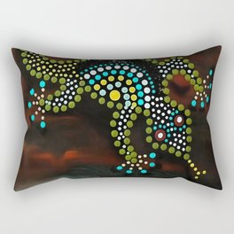 Mediterranean House Gecko Dot Painting Rectangular Pillow