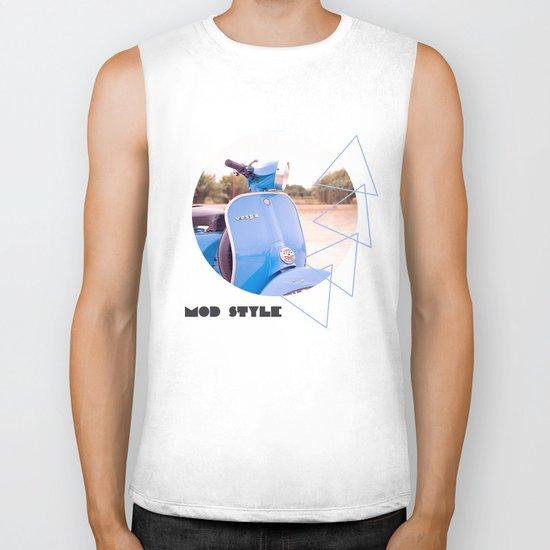 Mod Style in Blue Biker Tank