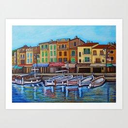 Colours of Cassis Art Print