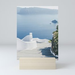 Santorini Stairs I (Vertical) Mini Art Print