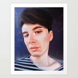 Dan Howell Stripped Sweater | Digital Painting Art Print