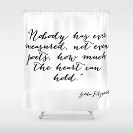 How much can the heart hold Shower Curtain