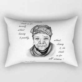 Feminist Art Maya Angelou Quote Rectangular Pillow