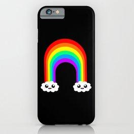 Happy Rainbow (Single On Black) iPhone Case