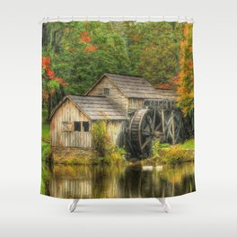 A Mabry Mill Autumn Shower Curtain