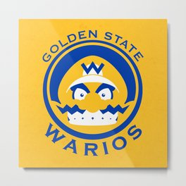 Golden State Warios - Mushroom Kingdom Champs Metal Print