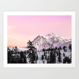 Sunrise on Shuksan Art Print