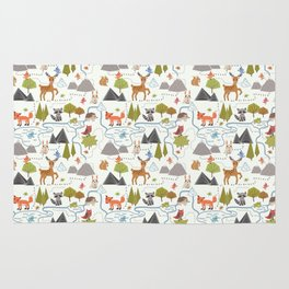 Funny Forest Map Rug
