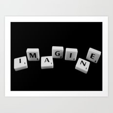 IMAGINE [scrabble] Art Print